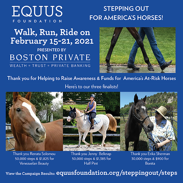 Inaugural Stepping Out Campaign Surpasses 4.2 Million Steps for America's Horses