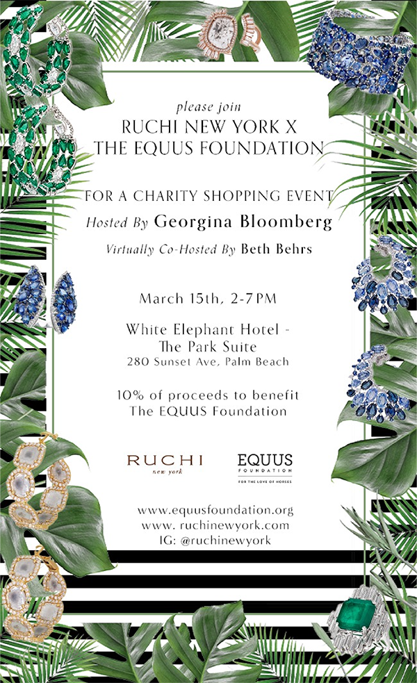 Ruchi New York Partners with the EQUUS Foundation