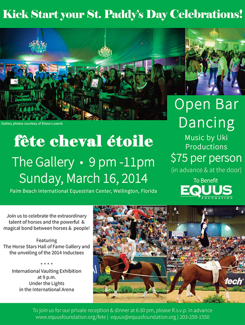 Kick Start your St. Patty's Day at the Fete Cheval Etoile